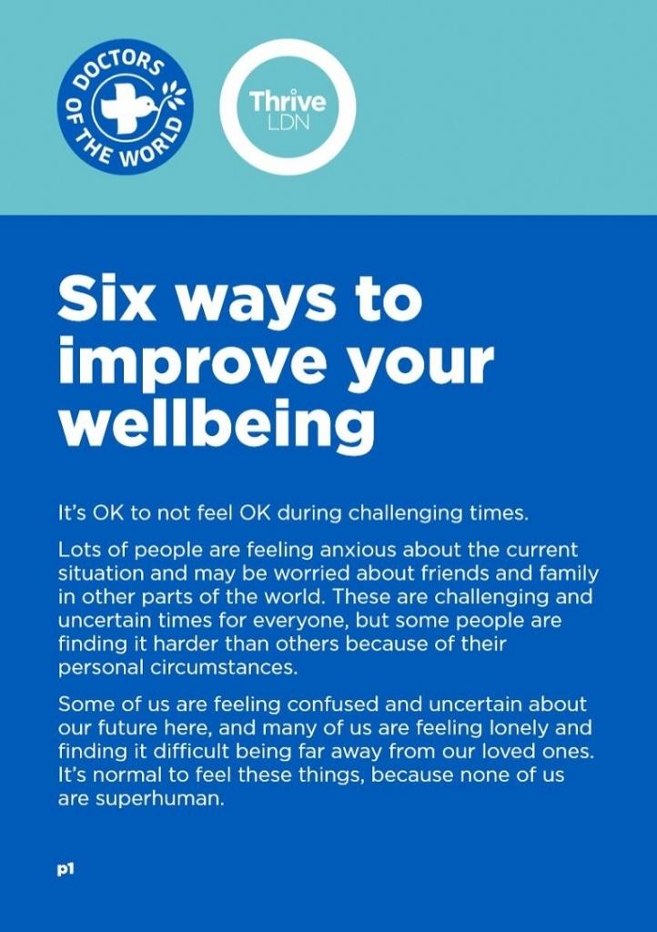 Wellbeing guidance - English