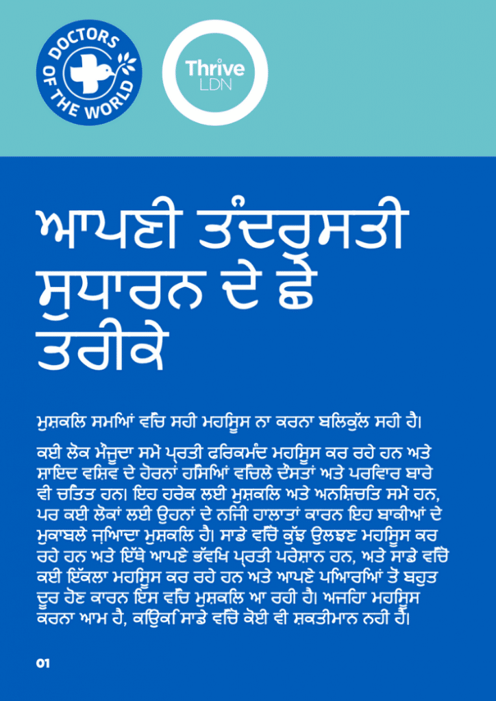 Wellbeing guidance thumbnails -punjabi india