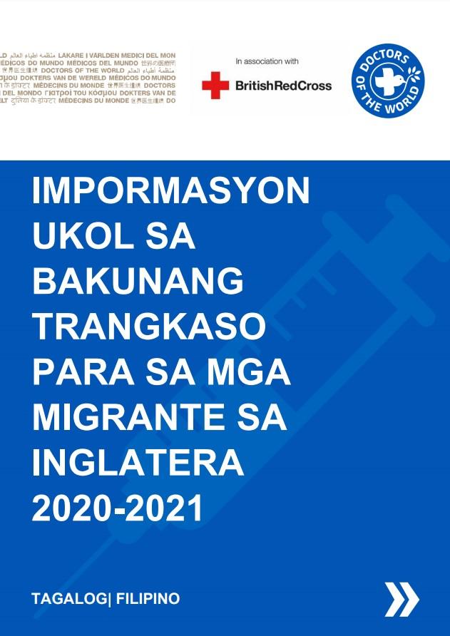 Filipino Flu Vaccine Info Sheet