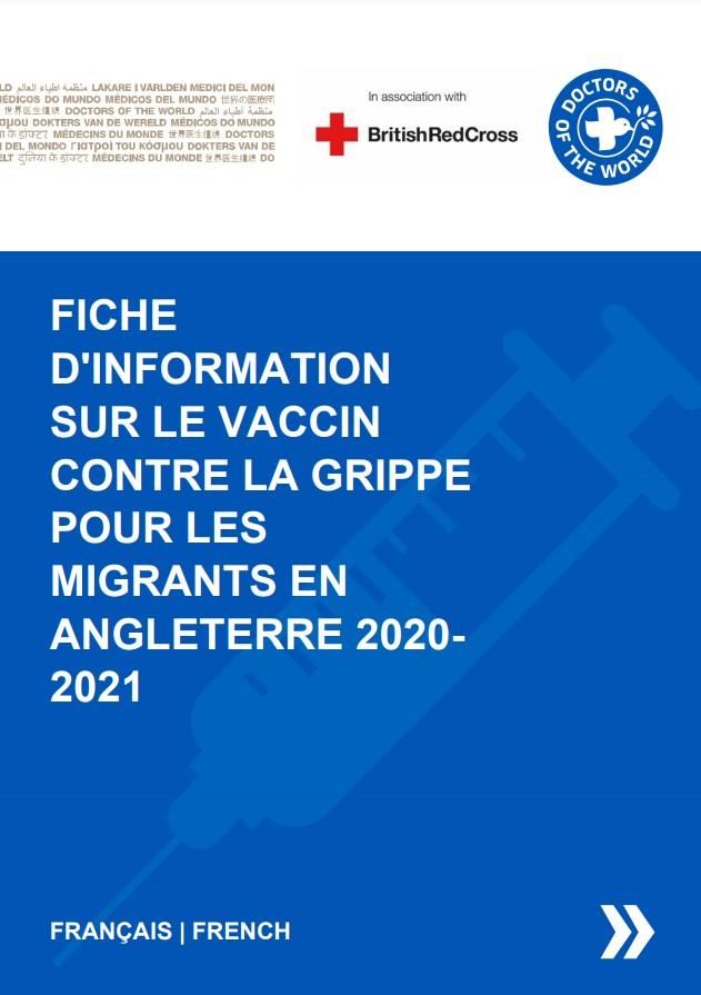 French Flu Vaccine Info Sheet