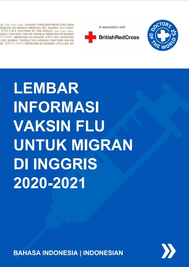 Indonesian Flu Vaccine Info Sheet