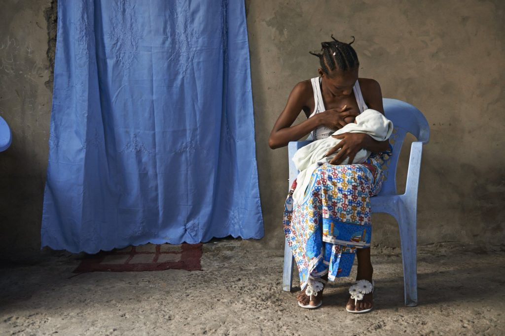 Irene, a woman in the Democratic Republic of Congo, who became pregnant unintentionally when she was 19